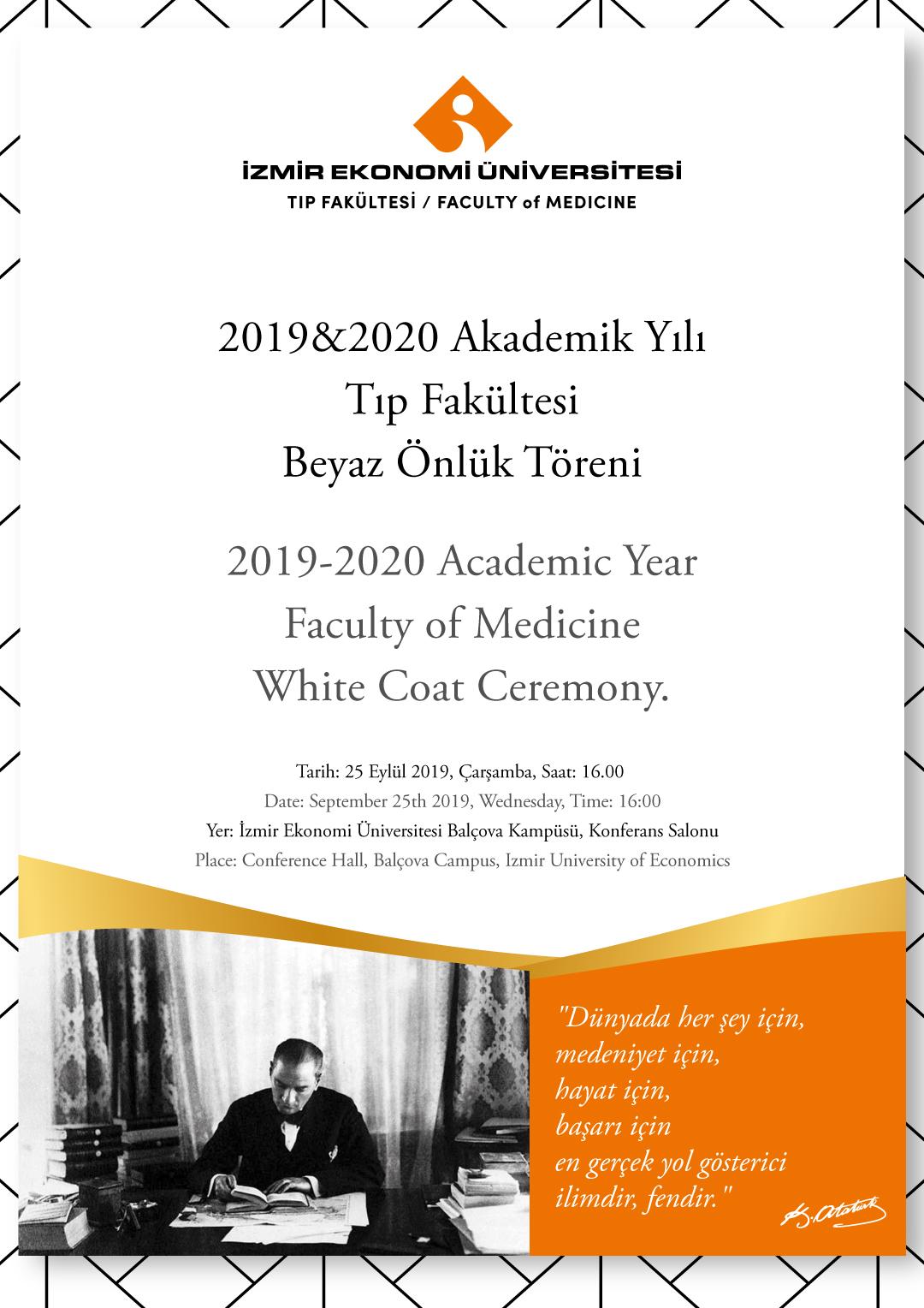 Tıp Fakültesi Beyaz Önlük Töreni