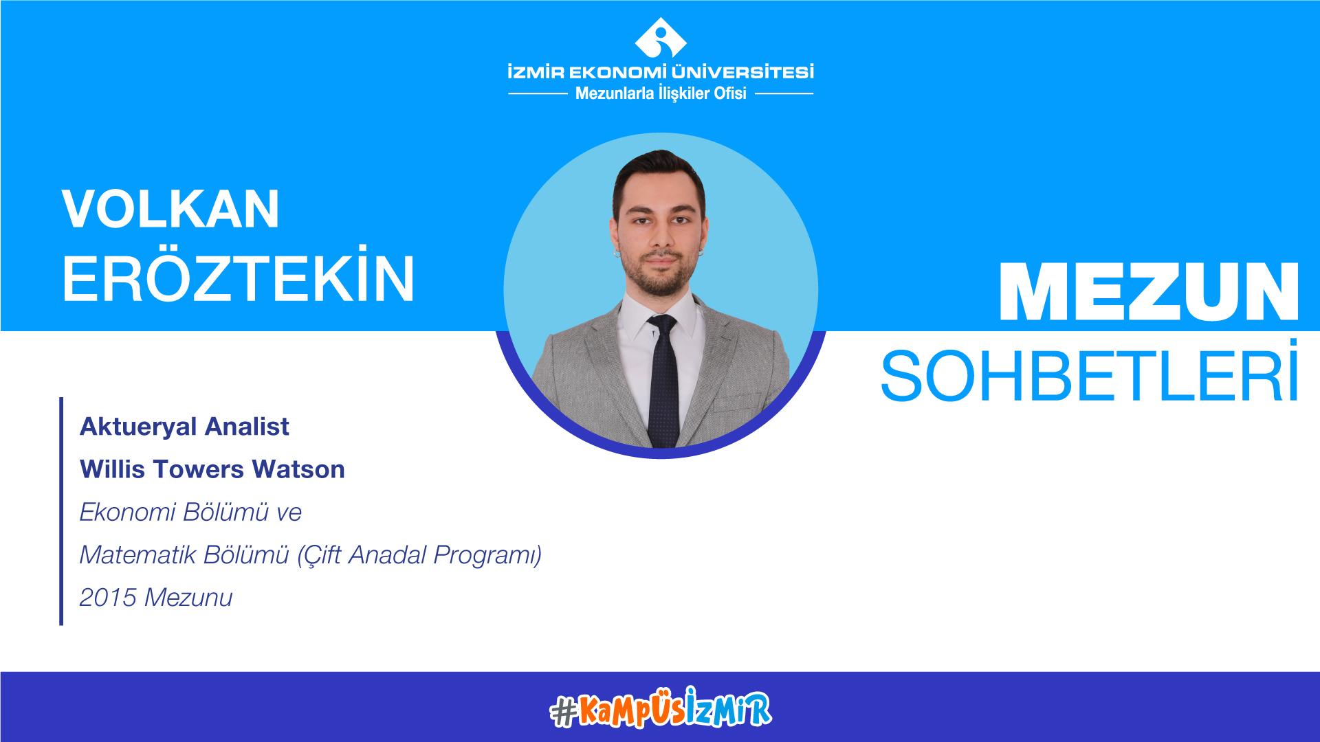 Online alumni chats-Volkan Eröztekin