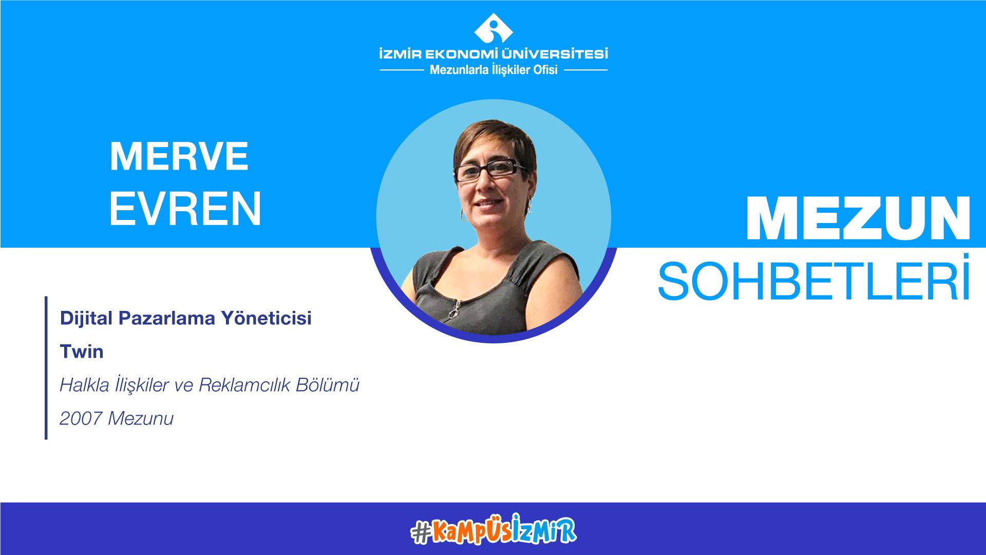 Online alumni chats-Merve Evren