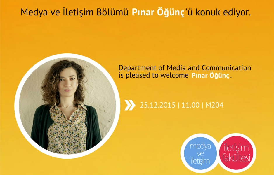 Pınar Öğünç'ü ağırlıyoruz.