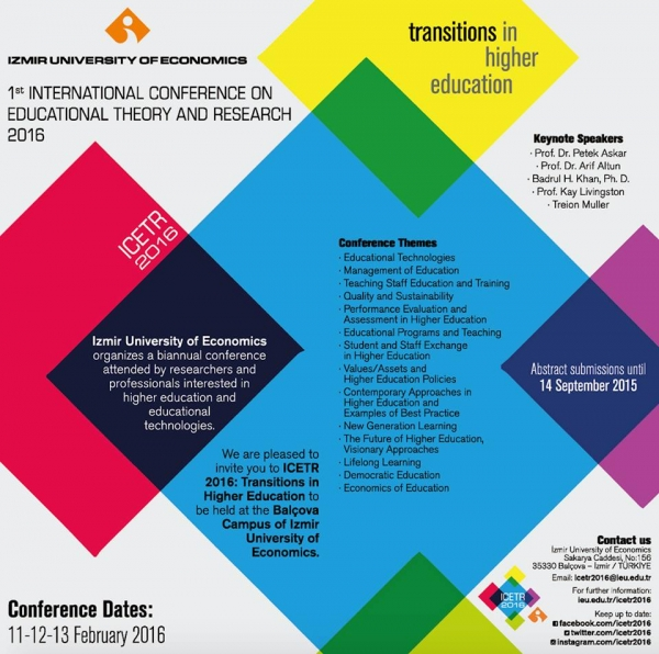"""ICETR 2016 """"Educational Theory and Research"""""""