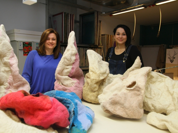 USING FELT TO TELL THE STORY OF WOMEN