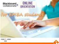 Collaborate Orientation Program for Distance MBA students