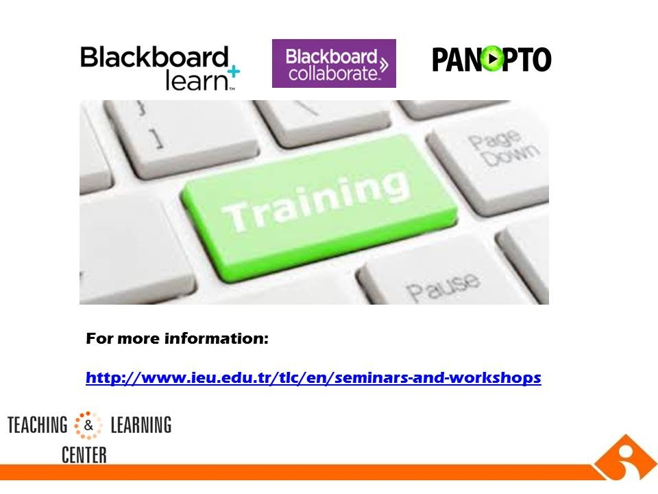 Blackboard Training Sessions