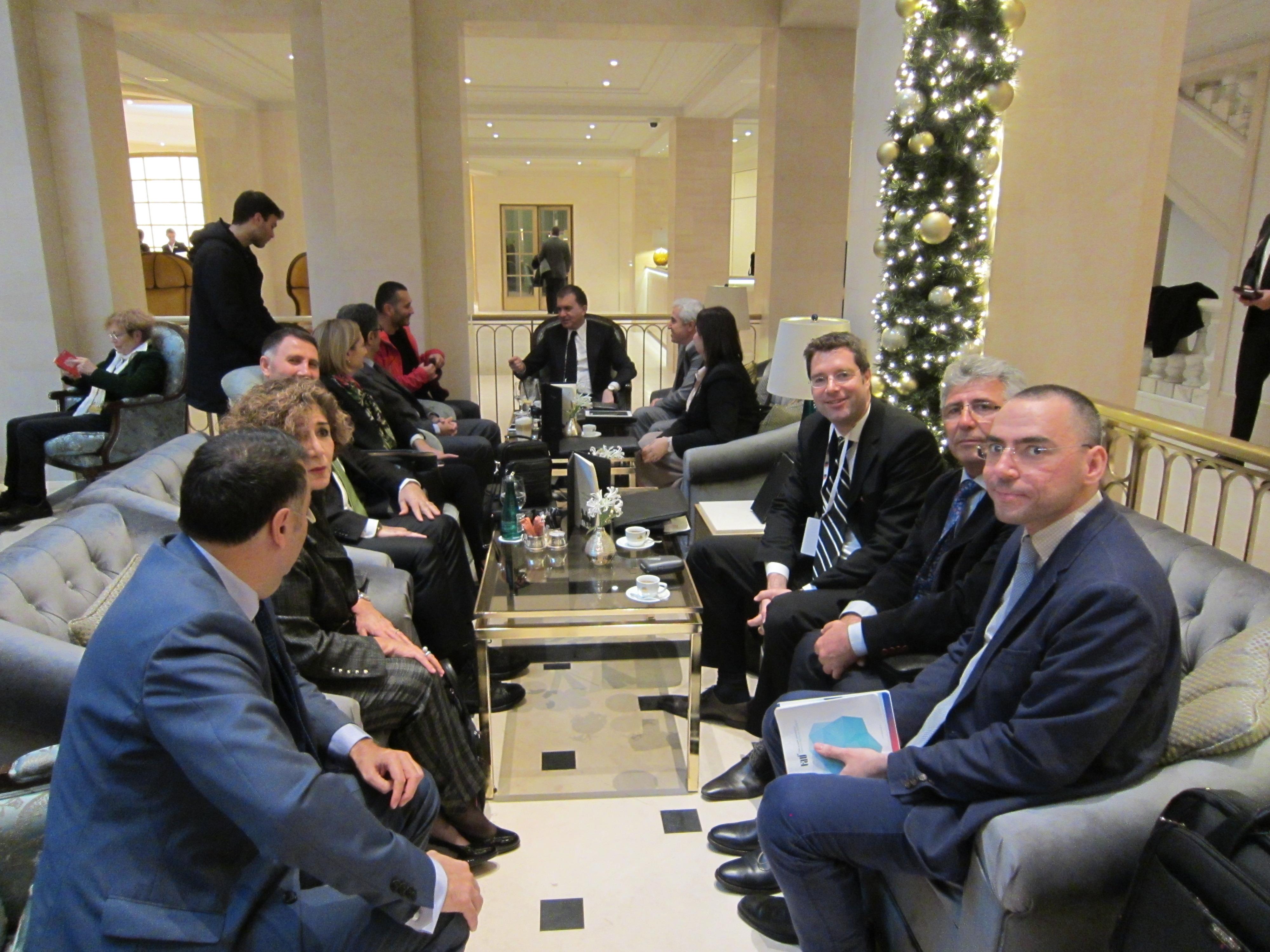 AB Bakanı Ömer Çelik'le Toplantı