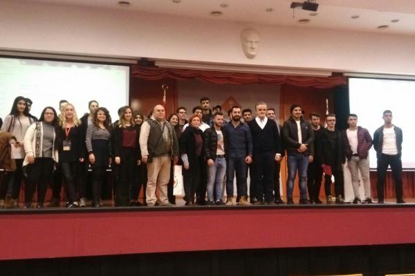 İzmir Bornova Atatürk Mesleki ve Teknik Anadolu Lisesi Öğrencileri Yüksekokulumuzu Ziyaret Etti.