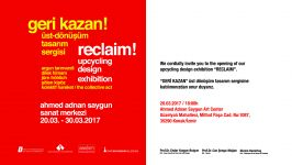 RECLAIM Exhibition Upcycling