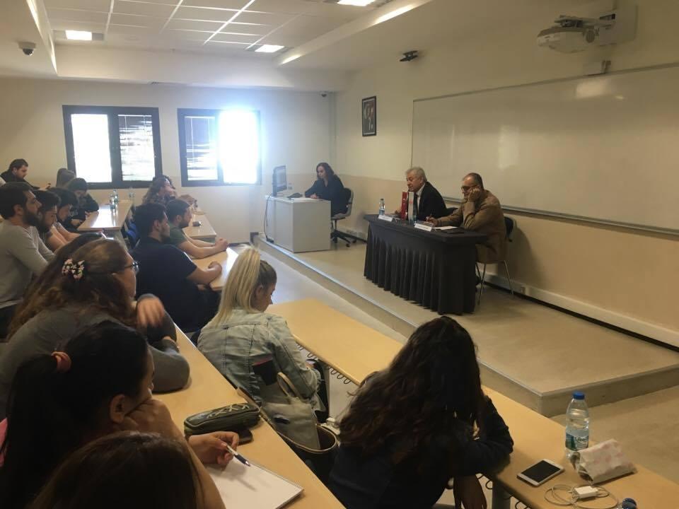 Bankacılık ve Sigortacılık Programı Öğrencilerimiz Cumhur KIRCALI ve Yaşar Erkan ÖZDEMİR'i ağırladı.