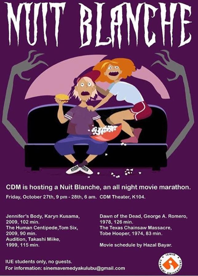 Nuit Blanche: Sinema ve Medya Kulübü Korku Filmi Gecesi