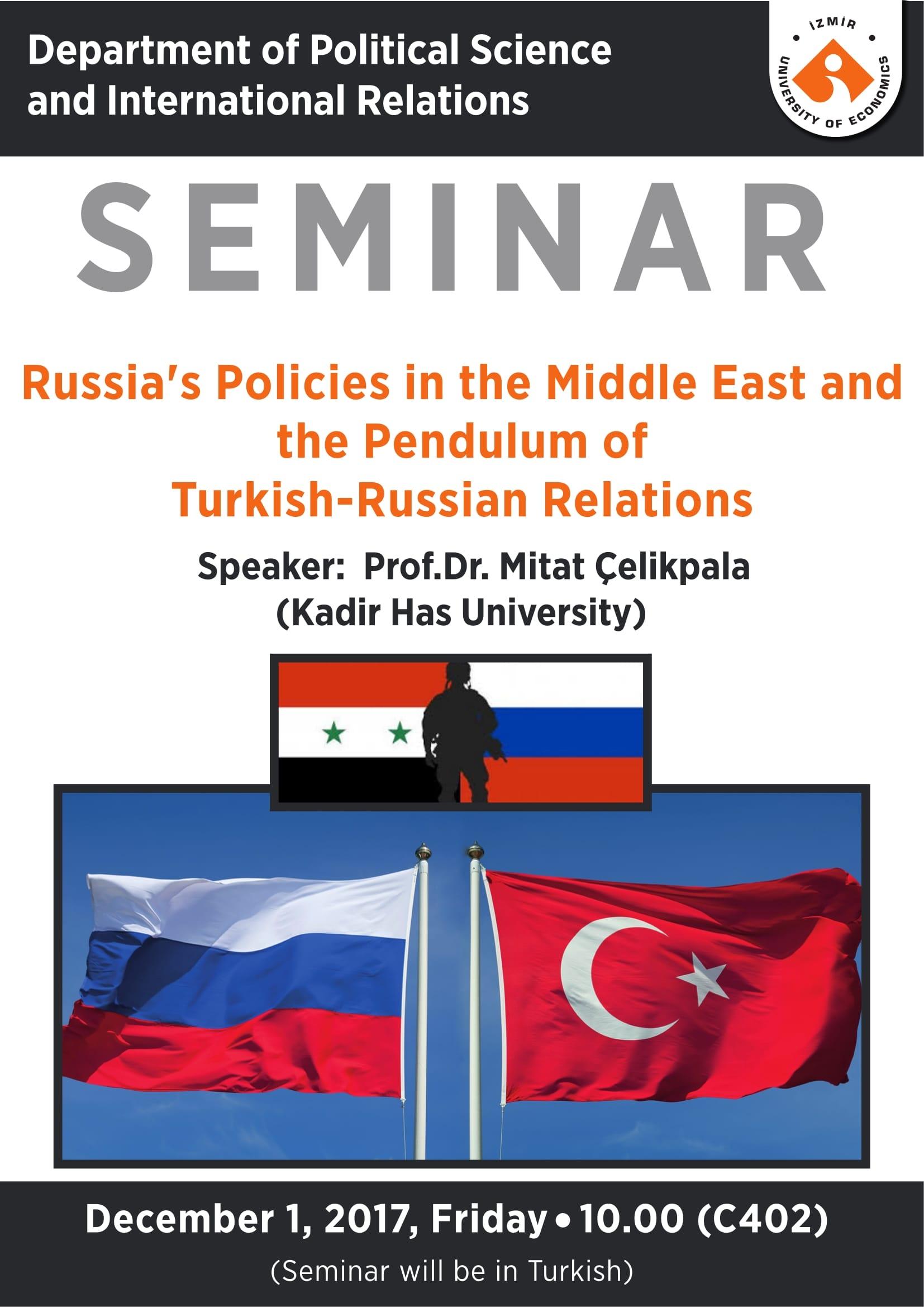Rusya'nın Orta Doğu Politikaları ve Türk-Rus İlişkilerinde Gitgeller