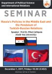Russia's Policies in the Middle East and the Pendulum of Turkish-Russian Relations
