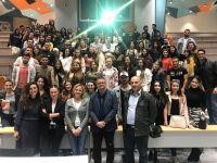 İzair Havacılık Güvenlik Müdürü Sn Handan Taş ve Yer İşletme Müdürü Sn Deniz Karahoca Öğrencilerimiz ile Buluştu