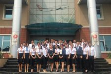 MOCK-UP TRAINING FOR CIVIL AVIATION CABIN SERVICES PROGRAM STUDENTS