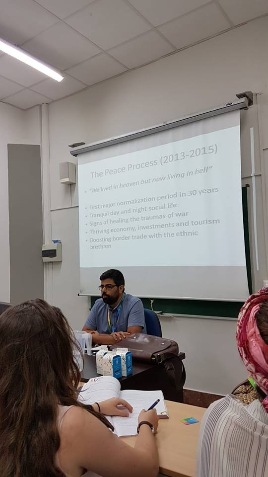 Serhun AL gave a lecture at World Congress for Middle Eastern Studies