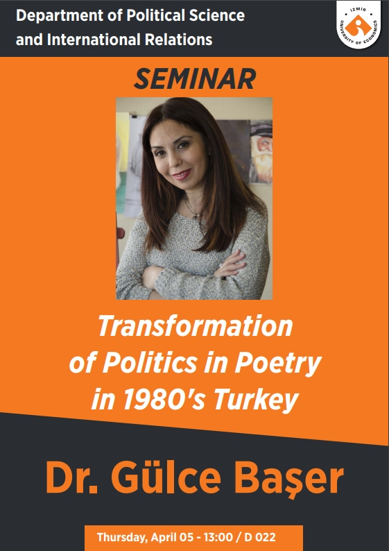 Transformation of Politics in Poetry in 1980's Turkey