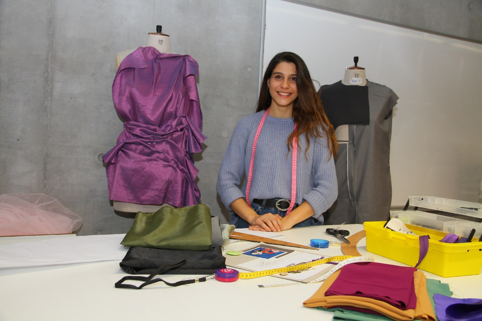 YOUNG FASHION DESIGNER OF IUE CREATED DESIGNS FOR CABIN CREW