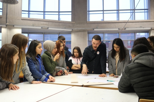 TOY WORKSHOP BROUGHT HIGH SCHOOL AND UNIVERSITY STUDENTS TOGETHER