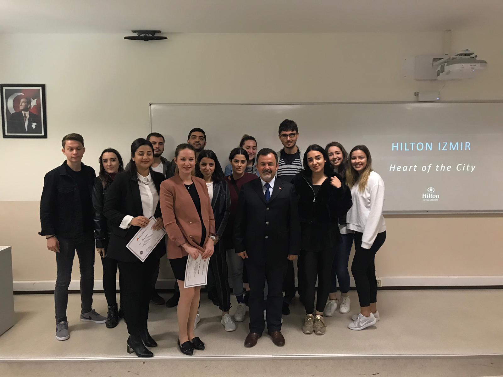 KEY Hotel ve Hilton Oteli'nden Profesyoneller Turizm Öğrencileri ile Buluştu