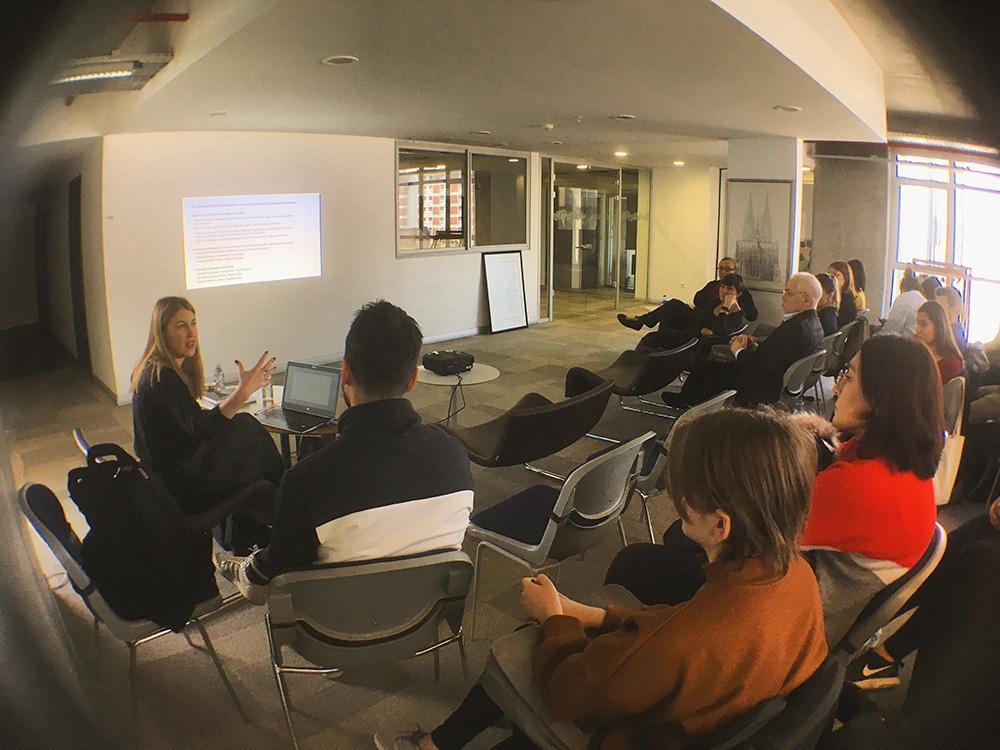 Çelenk Bafra gives a seminar to VCD