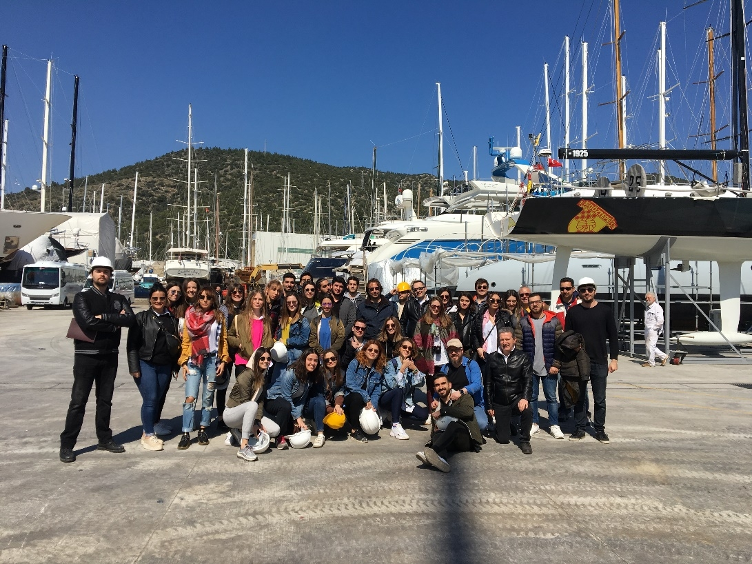 Students of Departments of Interior Architecture and Environmental Design, Industrial Design, and Yacht Design attended a technical trip to Bodrum İçmeler Region Shipyards, Bodrum Maritime Museum and Bodrum Marina