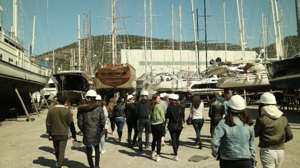 Bodrum İçmeler Bölgesi tersaneleri, Bodrum Denizcilik Müzesi ve Bodrum Marina teknik gezisi yapıldı