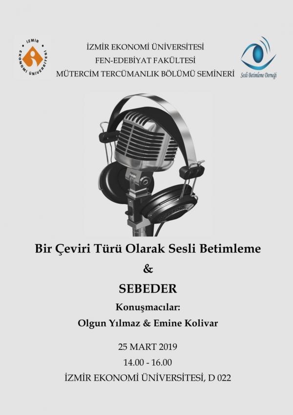 İngilizce Mütercim ve Tercümanlık Bölümünden Sesli Betimleme Semineri