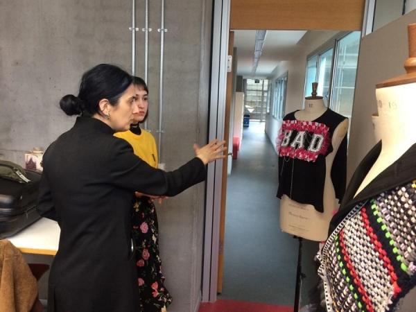 Fashion and Textile Design Department hosted successful fashion designer Hatice Gökçe...
