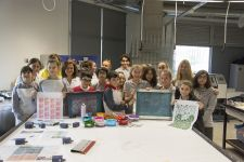 WORKSHOP WITH PRIVATE TAKEV PRIMARY-SECONDARY SCHOOL PAINTING AND CERAMICS CLUB STUDENTS