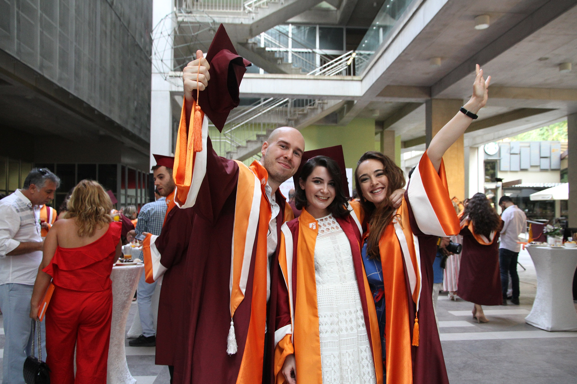 Enthusiastic graduation at Izmir University of Economics
