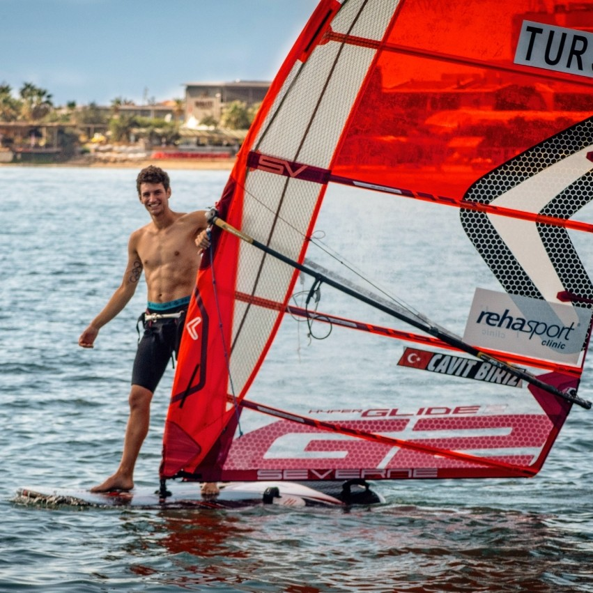 Started windsurfing as a hobby, now getting ready for Olympics