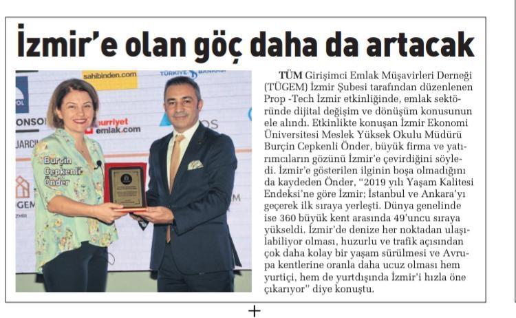 Meslek Yüksekokulu Müdürümüz Burçin Önder'in Emlak Sektörünün Dinamiklerini Anlattığı Prop Tech Gayrimenkul Fuarı Açılış Konuşması