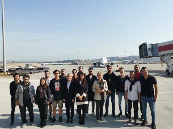 Sivil Hava Ulaştırma İşletmeciliği Programı Öğrencilerimiz Adnan Menderes Havalimanı'nda