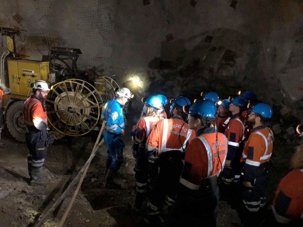 Technical trip at 230 meters below ground surface
