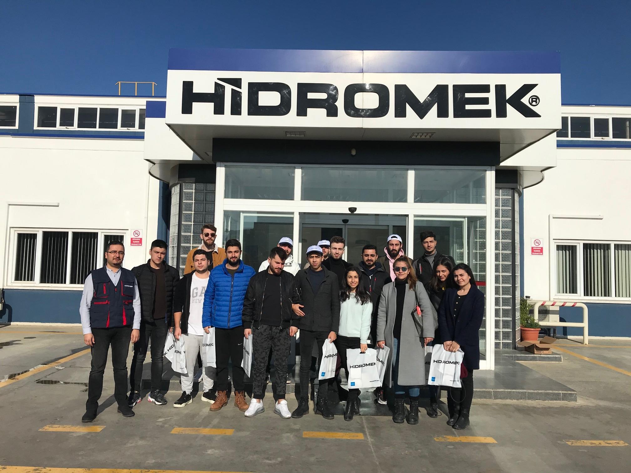 İnşaat Teknolojisi Öğrencileri HİDROMEK İzmir Fabrikasında Teknik Gezide