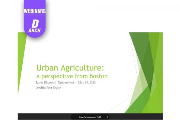 Department of Architecture Webinar Series 2: Andria Post-Ergun