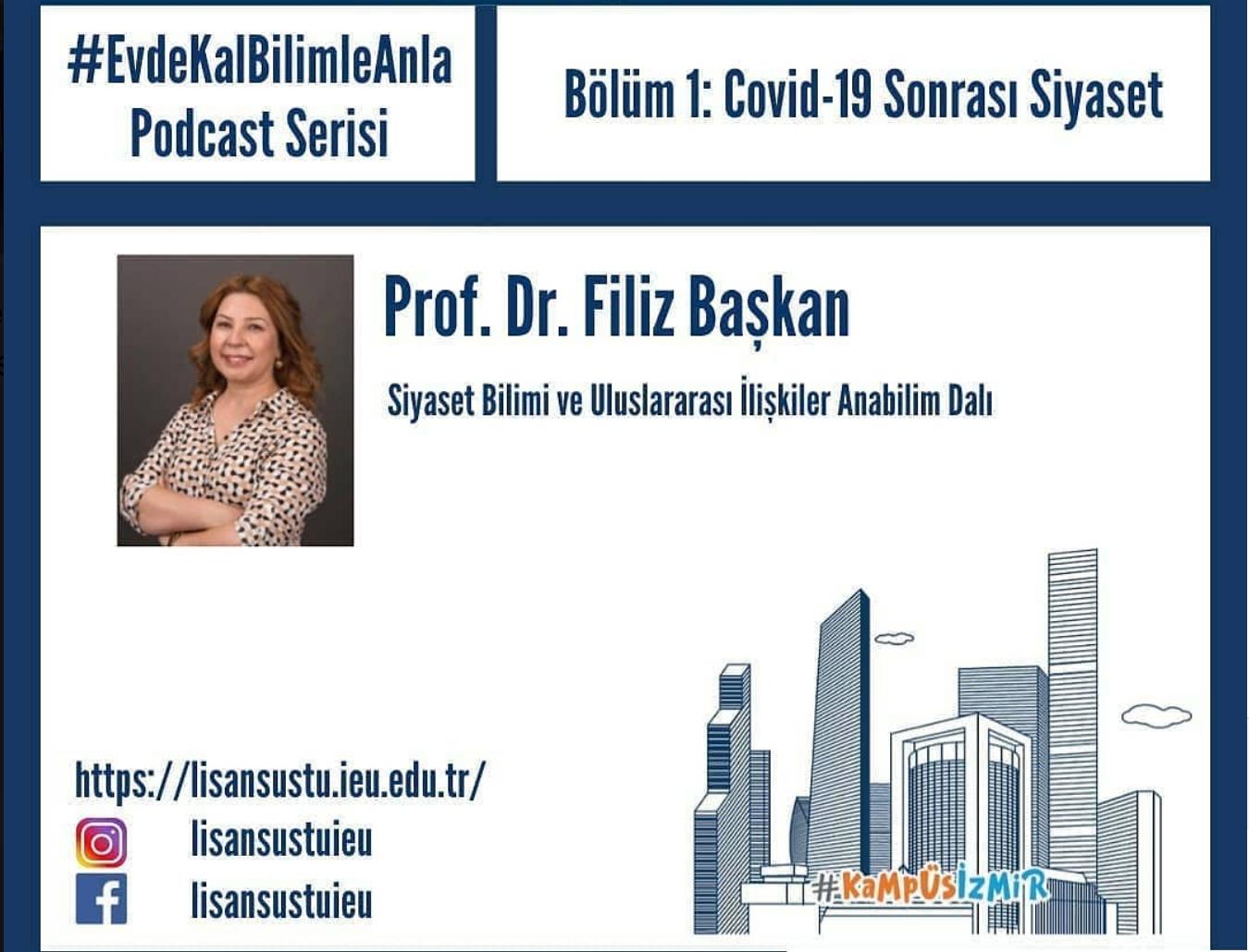 Filiz Başkan, 'Covid-19 Sonrası Siyaset'i anlattı
