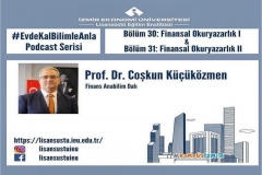 "Professor Dr. Küçüközmen spoke on ""Financial Literacy"" in the Podcast Series by the Graduate School"