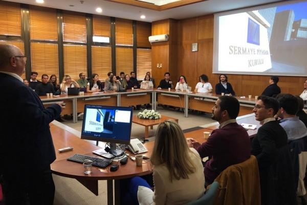 Uluslararası Ticaret ve Finansman öğrencileri Sermaye Piyasası Kurulu'nu ve Türkiye Cumhuriyet Merkez Bankası'nı ziyaret ettiler