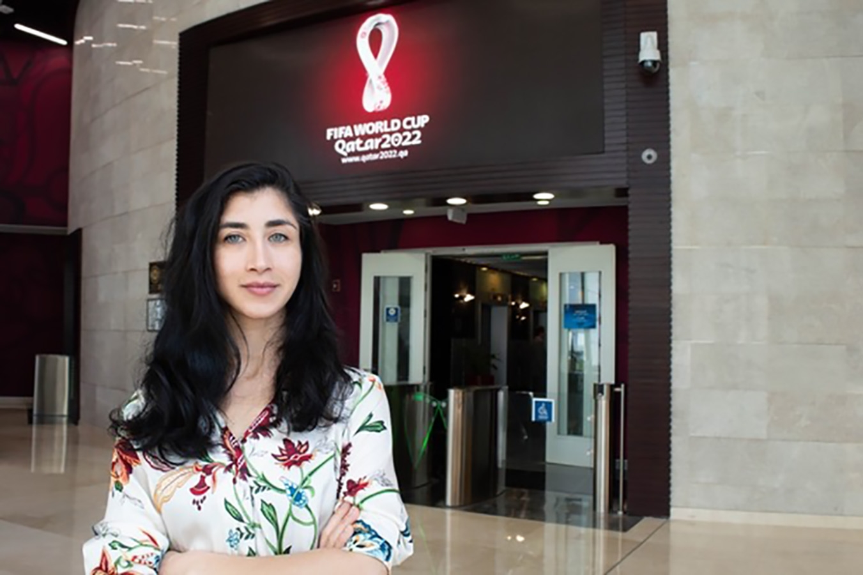 VCD graduate Kayra Paköz joins the design team of World Cup
