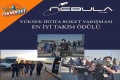 NEBULA ROKET TAKIMI EN İYİ TAKIM RUHU ÖDÜLÜNÜ KAZANDI