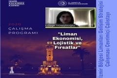 Doç. Dr. Işık Özge Yumurtacı Hüseyinoğlu İzmir Bölgesi Limanları Gelişim Stratejisi Çalışması Çevrimiçi Çalıştayı Programı'nda
