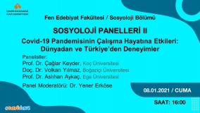 Sosyoloji Panelleri-II Cuma Günü Düzenlenecek
