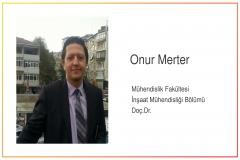 İnşaat Mühendisliği Bölümü Öğretim Üyemiz Doç.Dr. Onur MERTER'in Kitap Bölümü Yayınlandı