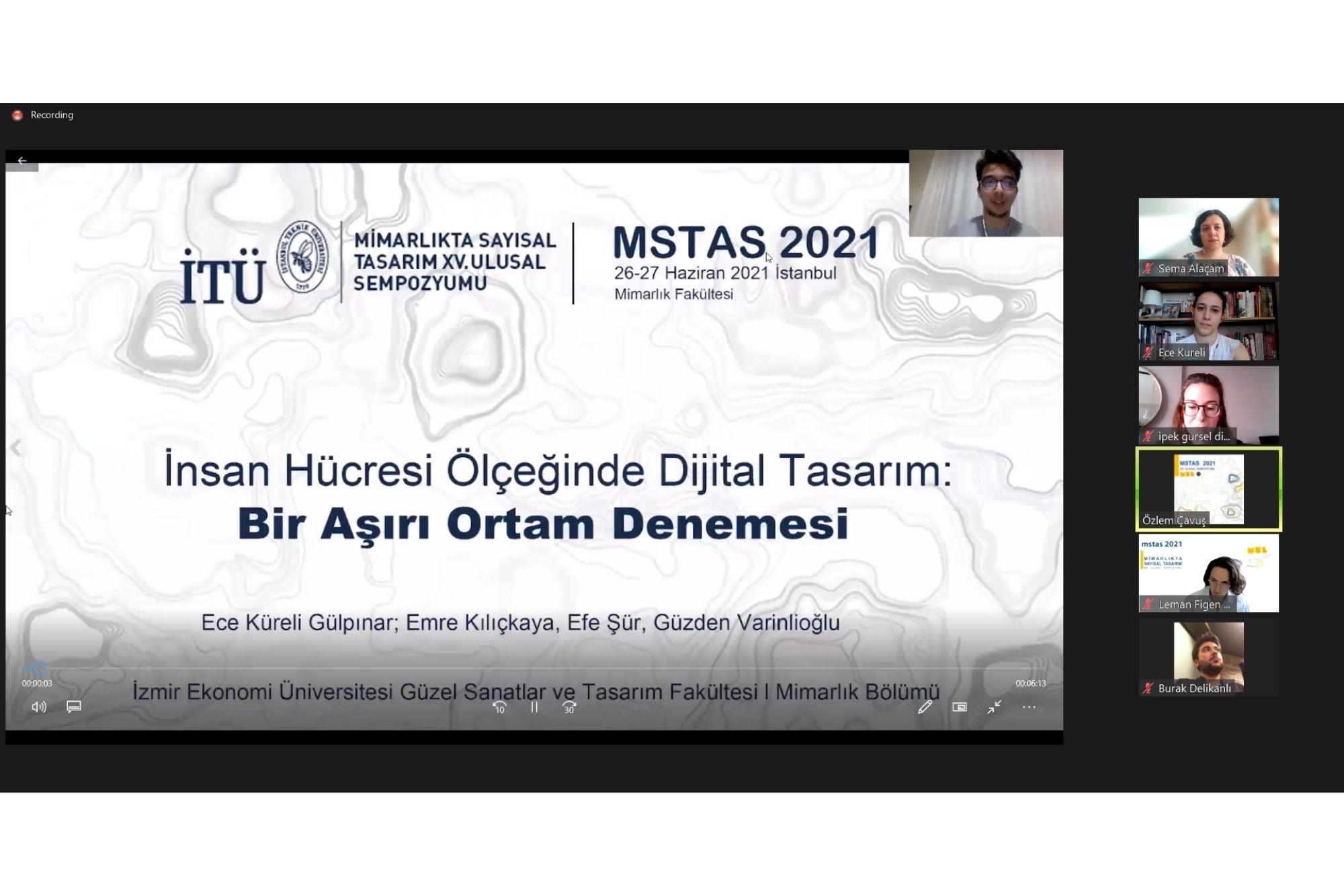 """MSTAS 2021 """"İnsan Hücresi Ölçeğinde Dijital Tasarım: Bir Aşırı Ortam Denemesi"""""""