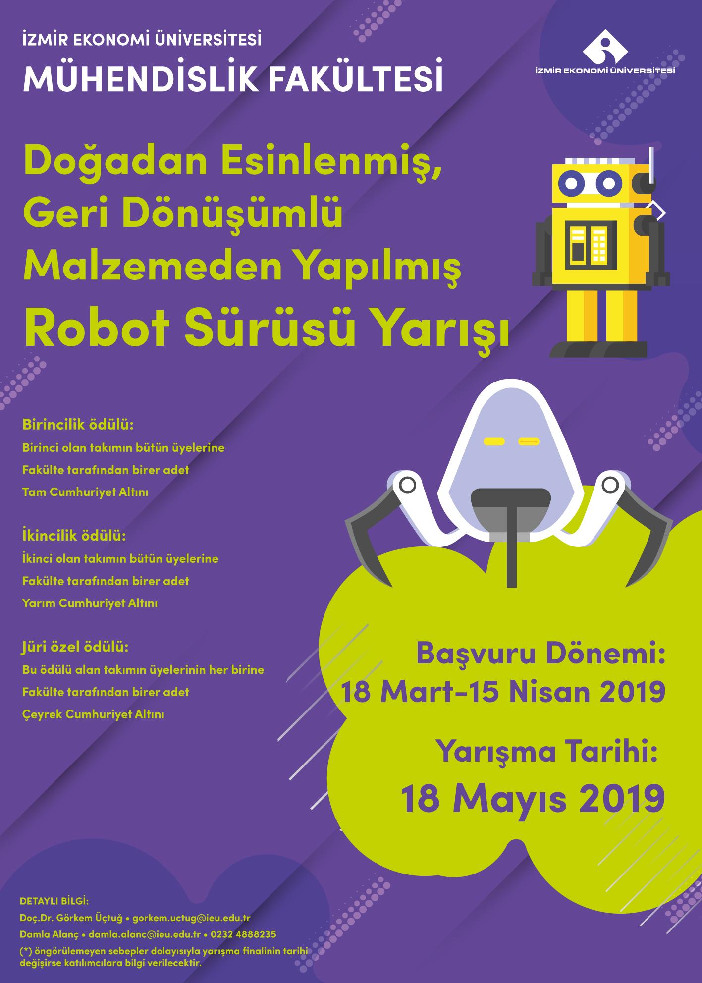Robot Sürüsü Yarışı Mühendislik Fakültesi Izmir Ekonomi üniversitesi